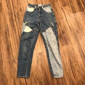 Vintage color block jeans